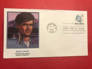 #2182 FDC 1988 Fleetwood 25c Jack London  Call of the Wild   L40