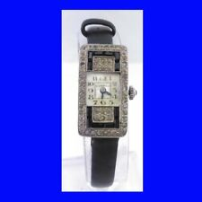 VINTAGE Platinium & Diamante & Zaffiro DECO Dunhill Ladies Watch 1935