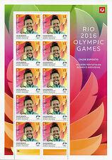Australia 2016 MNH Rio Olympics Gold Medal Winners Chloe Esposito 8v M/S Stamps