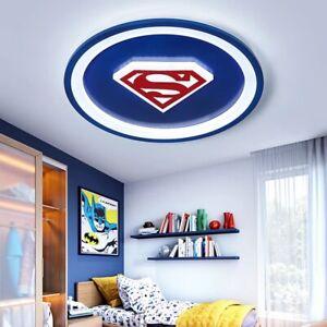 Superman LED Ceiling Kids Children Boys Bedroom Sleek Modern Comic-Con