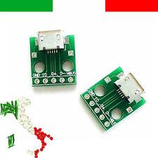 Adattatore MICRO USB a DIP 5pin pcb arduino breadboard