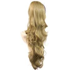 Perruques et toupets queues de cheval blonds pour femme