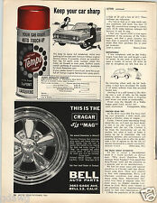 1964 PAPER AD Cragar S/S Mags Chrome Wheels Cast Aluminum Car Auto Automobile