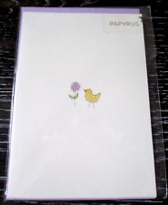 Papyrus Glitter Chick & Flower Easter Greeting Card NIP SEALED