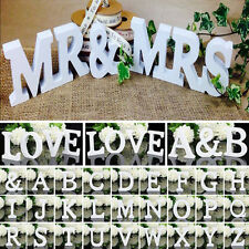 Wooden Wood Letter Alphabet Word Free Standing Wedding Party DIY Home Decor Sign