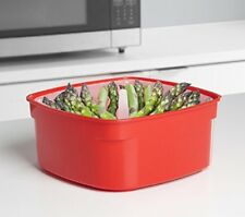 Sistema Microwave Medium Steamer with Removable Steamer Basket, 2.4 L - Red Clea