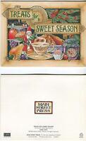 VINTAGE CHRISTMAS TEACUP TEA SANTA CLAUS RASPBERRY JAM PIE CANDY CUPCAKE 1 CARD