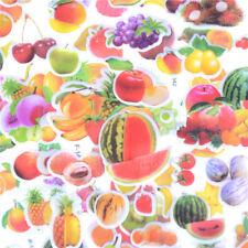 6 Hojas frutos verdes Banana uvas Scrapbook Burbuja Pegatinas recompensa Niños Juguete Ds