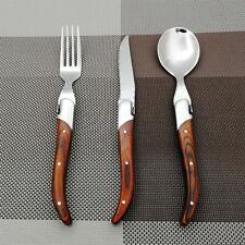 Spoons + Fork + Knife Laguiole Style Stainless Steel Steak tableware flatware