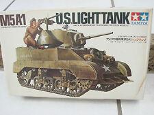 Tamiya 1/35 M5A1 U.S. Light Tank with figure Plastic Model Kit Set Japan