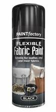x2 Black Fabric Spray Paint Leather Vinyl & Much More, Flexible 200ml 5 Colours