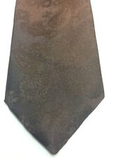 Vintage Mens Store Mens Tie 3.25 X 56 Solid Brown With Paisley Texture New