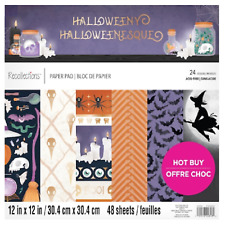 """Halloweeny  12"""" x 12"""" Paper Pad By Recollections New Halloween  Scrapbooking"""