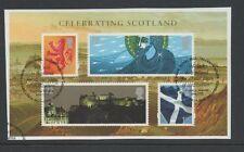 GB 2006 Celebrating Scotland MINISHEET fine used set stamps on piece