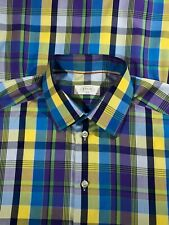 Eton Slim Fit Multicolor Plaid Dress Shirt Mens Sz 15 3/4 - 40 RECENT