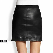 Leather Solid Mini Skirts for Women