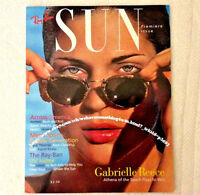 "Vintage Ray Ban Sunglasses USA 1994 1st Edition ""Sun"" Magazine Gabrielle Reese"
