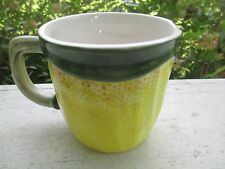 Hand Painted Lemon Mugs Pair (2) coffee cups Made in Portual (Set A)