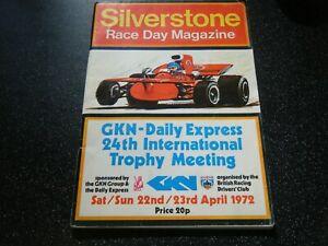 1972 SILVERSTONE PROGRAMME F1 F3 JAMES HUNT TONY BRISE TRIMMER MARCH 723 713