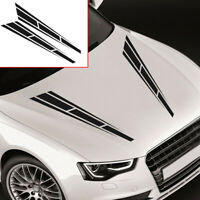 Racing Stripes Graphics Decal Hood Vinyl Sticker Car Front Stickers Accessories