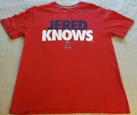 INV282 - Los Angeles Angels Jered Weaver Nike T Shirt XL X-Large MLB EUC Anaheim