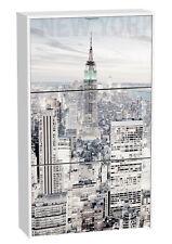 Armario zapatero de 3 puertas abatibles color blanco Manhattan 127x75 cm
