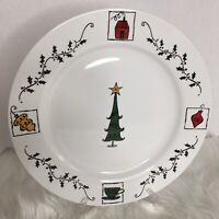 Starbucks Coffee Company Stoneware Christmas Plate 10 3/4 Inches