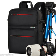 DSLR SLR Black Camera Backpack Photography Bag for Canon Rebel Nikon Sony Pentax