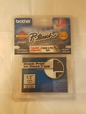 """Brother P-Touch - TZe131 Label Tape, 1/2"""", Black on Clear"""