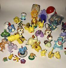 HUGE POKEMON Mixed LOT 36 Pcs Figures Keychains Toys TOMY Nintendo Plastic PVC