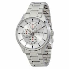 New Seiko SKS535 Men's Neo Sport Silver Dial Chronograph Stainless Steel Watch