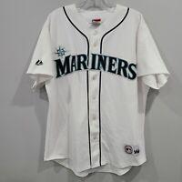 VTG Majestic Seattle Mariners Ichiro Suzuki 51 White Baseball Jersey Mens M Sewn