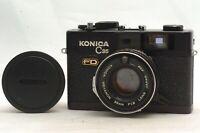 @ Ship in 24 Hrs@ Rare & Excellent @ Konica C35 FD Black Film Rangefinder Camera