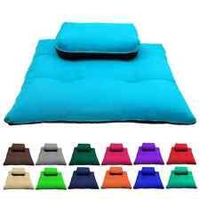 36x28x3 Meditation Zafu & Zabuton Set Cushions Training Exercise Yoga Mat Blue