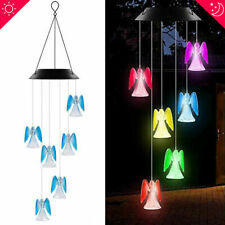 Solar Lamp Color Changing Led Angel Wind Chimes Outdoor Home Garden Decor