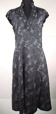 Banana Republic Women's Silky Wrap Black Dress Size 6 Career Stretch Polka Dots