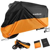 Motorcycle Waterproof Outdoor Indoor Motorbike Rain Vented Bike Cover XXL Orange