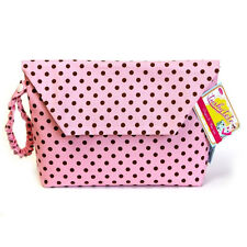 Tushy Tote by Sister Chic-Diaper & Wipe Case-1 Pink and Brown Dot Wow!