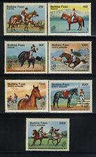 Horses by Burkina Faso MNH Sc 724-30 Value $ 11.20
