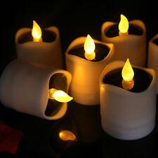 Solar Operated Flicking LED Tea Light Candle Decorative Votive Tealight
