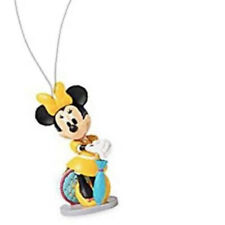 "Disney Minnie Mouse 3"" PVC Vacation Tourist Yellow Umbrella Ornament Christmas"