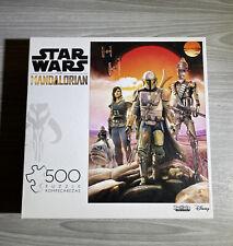 Mandalorian Jigsaw Puzzle Disney Star Wars 500 Piece Buffalo Poster Complete