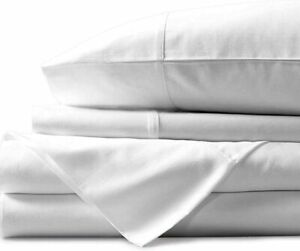 1000 Thread Count Sheet Set Queen Size White 100% Egyptian Cotton 4 Piece Sheets