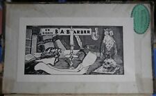 1890s bookplate, ex libris, of B. A. Barber on Mrs. Jameson's Italian Painters
