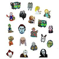 Horror Movie Collection Chucky Jason Freddy Halloween Pendant Lapel Hat Pins