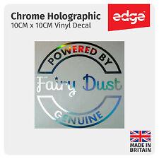 Powered by Fairy Dust CROMATA OLOGRAFICA Carburante Tappo Di Copertura Auto Adesivo Decalcomania