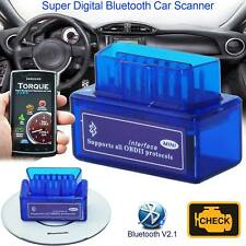 V2.1 Bluetooth ODB2 Android Car Scanner Torque Auto Scan Diagnostic Tool New
