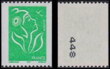 2005 FRANCE N°3742** Roulette Marianne de Lamouche Num Noir à Gauche Verso MNH