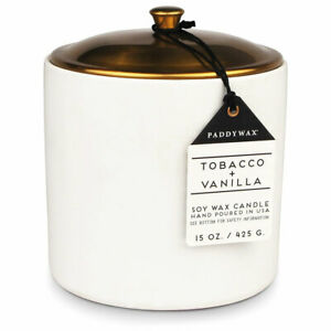 Paddywax Hygge Collection Scented Candle,15 oz Tobacco Vanilla
