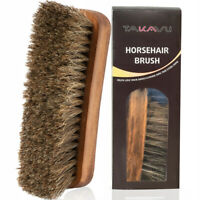 """6.7"""" Horsehair Shoe Shine Brushes for Boots, Shoes & Other Leather Care (1-pack)"""